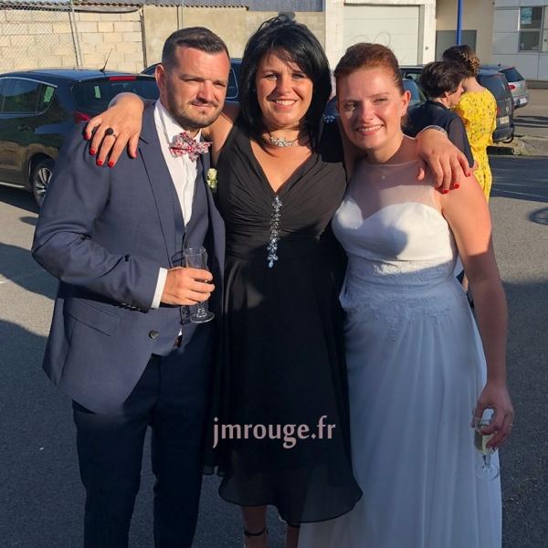 robe bleu nuit pour soirée de mariage