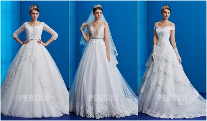 0ce3e14104d robes de mariée princesse avec plusieur couches pour mariage d hiver