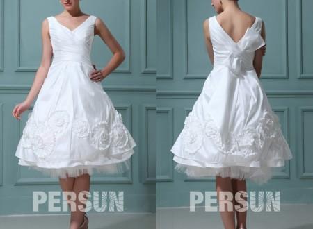Look parfait dans des robes de mariée courtes